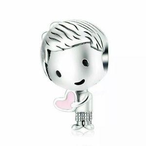 Cute Little Boy Silver Charm For Pandora